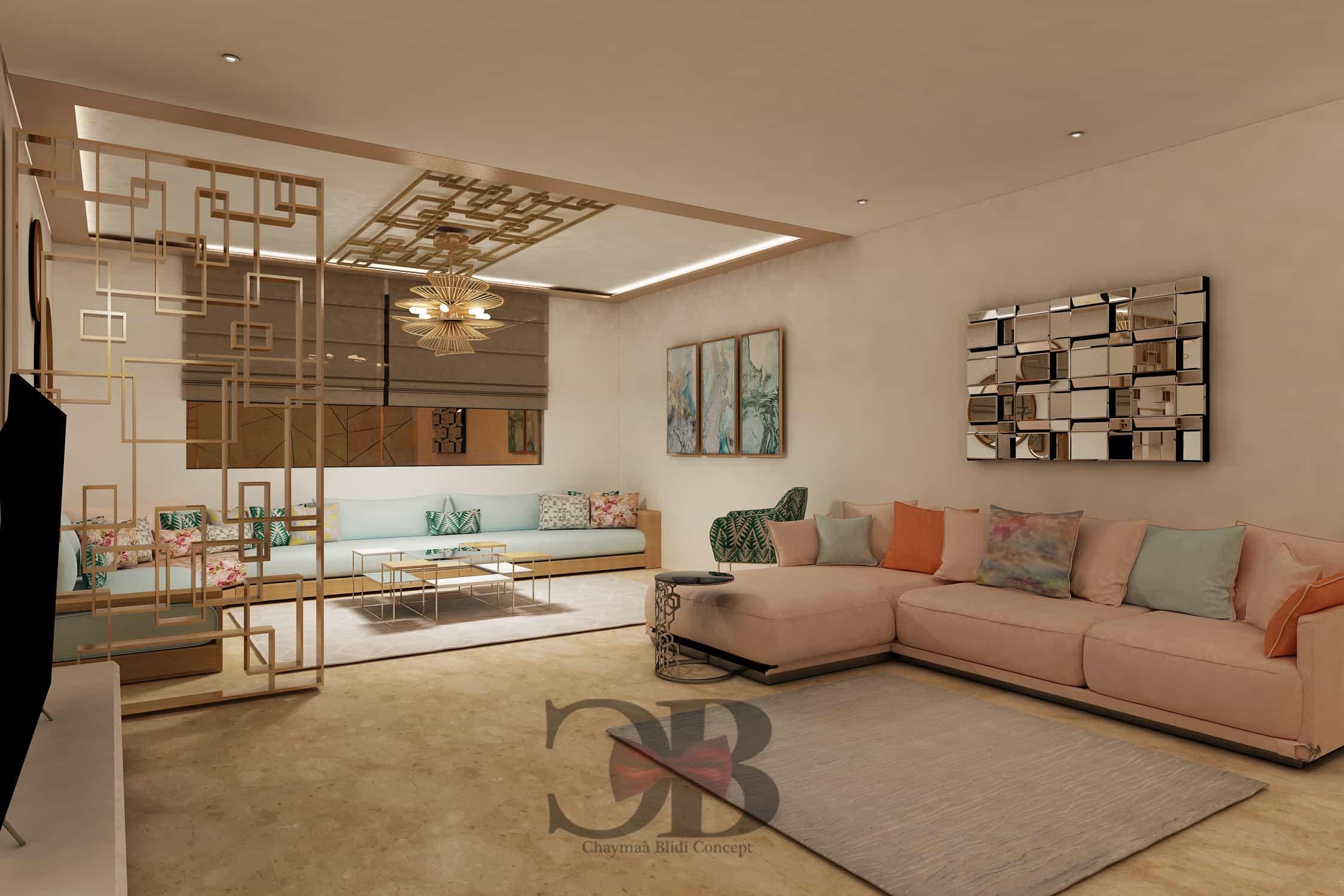 Salon moderne et traditionnel - CB Concept - Architecture d ...